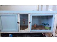 Painted rabbit hutch