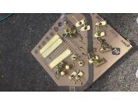 Mixed brass door handles for sale