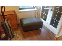 Real leather ottoman/footstool