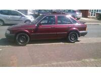 escort mk4 1.6 ghia , not xr3i turbo 1990,