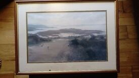 A Roy Perry print of a golf course £10