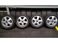 Ford Genuine 16 alloy wheels + 4 x tyres 205 50 16