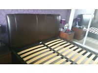 Leather King Size Bed Frame