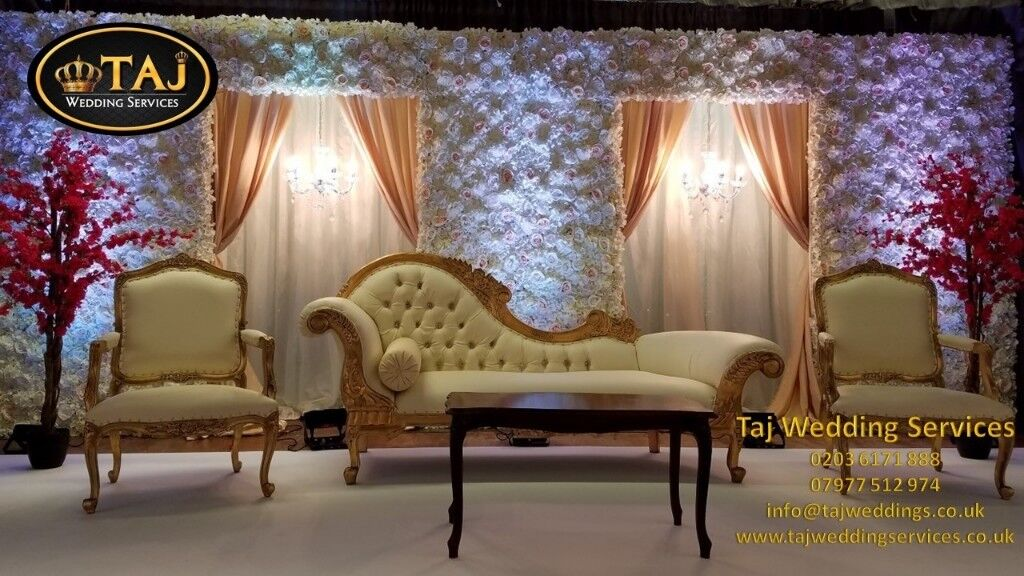 Asian Indian Wedding Mehndi Stages Decor Marquee Tent Hire Chair Covers House