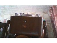 halina 35x camera & leather case