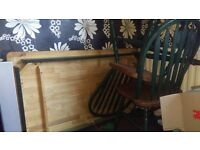 Vintage dining table with 2 chairs (already dismantled table) 15 ono