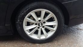 BMW 17 INCH ALLOYS AND NEARLY NEW TYRES
