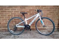 "CARRERA SARUNA Junior Hybrid Bicycle - 26"" white / blue frame"