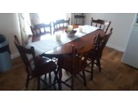 Kitchen table and chairs mahogany