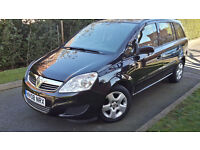 2008 VAUXHALL ZAFIRA EXCLUSIV 1.6 PETROL,7 SEATS,VERY LOW MILEAGE,VERY GOOD COND.