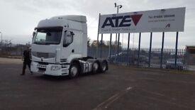 2013-13 plate renault premium 460 dxi eev route auto 6x2 midlift very low klms plus vat