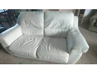 White /grayish 2 seater sofa
