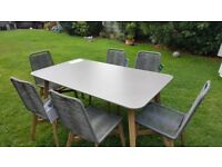 M & S Outdoor/Indoor Dining Table and 6 Chairs Brand News with tags