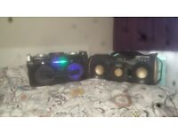 2 Bluetooth Party Speakers (iDance party stereo & Philips PX840)