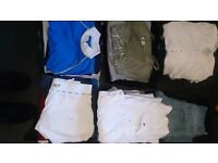 Over 70 items of clothing, vest tops, t-shirt, jumpers, trousers, skirts and cardigans etc