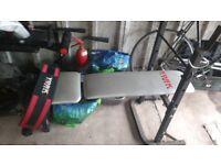 York weight bench/Body express stepper