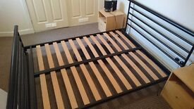 Steel frame double bed
