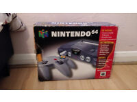 Nintendo 64 with original box + games
