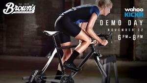 Indoor Bike Trainer Demo Centre. Check them out anytime! Next Demo evening Nov 22th