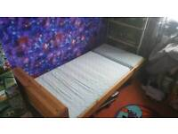 IKEA extendable wooden bed
