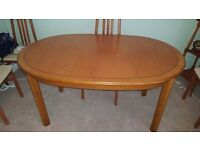 Extendable cherrywood dining table