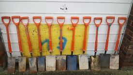Insulated shovels + trench boards