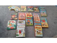 27 annuals and 17 Dandy comic books