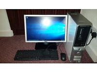 Dell Full Desktop PC Setup Windows 10 + 19inch Monitor + Mouse + Keyboard