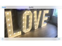 4FT LIGHT UP LOVE LETTERS - HIRE BRISTOL *£145*