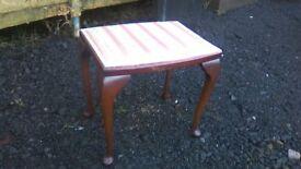 Petite vintage 1950s dressing table stool