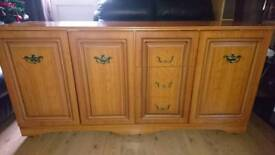 Solid wooden side unit