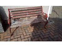Old Garden Bench Seat