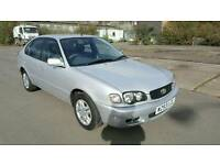 Toyota Corola 1.3 12 months mot 1 owner