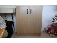 Office cupboard, approx 85cm high x 70 wide x 34cm deep,
