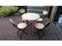 Compact folding kitchen table and 4 chairs