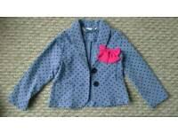 Girls polka dot jacket / blazer 3-4yrs