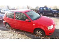 VW Polo, very reliable to date, 135k , MOT until March '17, few issues but nothing major