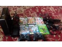 XBOX 360 and 6 Games