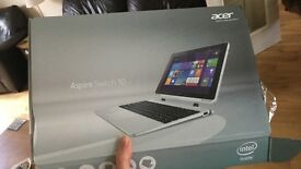 Acer Aspire Switch 10 for sale, only used twice still and still in its box.