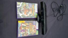 Xbox 360 Kinect sensor motion bar and games