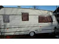 Caravan with motor mover