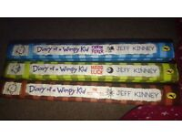 Diary of a wimpy kid x 3 brand new hardback books. Cabin Fever, The third wheel, Hard luck.