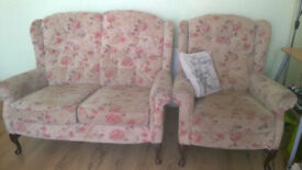 SOFA AND MATCHING ARMCHAIR IN VERY GOOD CONDITION
