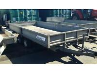 2013 indespension sbh35-146 14ft X 6. 6ft tandem axle dropside trailer 3500 kg no vat