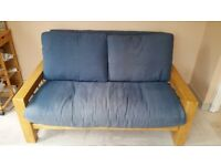 Double futon with solid wood frame in central ish Reading