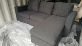 NEW Habitat Corner Chaise Sofa in Grey DELIVERY AVAILABLE