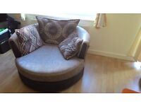 To sell separately or together: TV bench, cabinet, sofa bed, swivel sofa