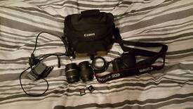 Canon Eos 450d with lenses