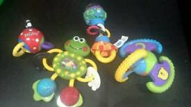 Selection of teething toys