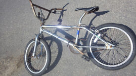 Concept 'Go Easy Joe' BMX Bike, Chrome Frame, 20 inch Wheels, Good Tyres & Wheels, Needs attention.